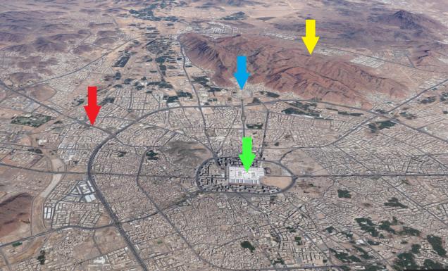 Medina-Uhud-arrows